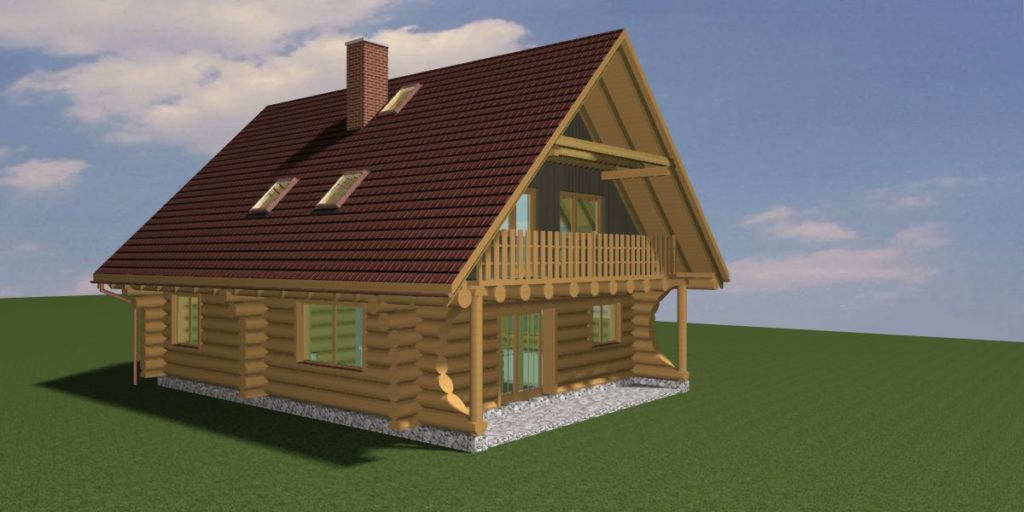 Vytvořený projekt rodinný dům, dřevěnka